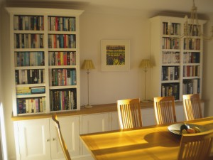 Built In Display and Bookshelves