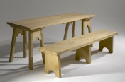Norwich Castle Oak Bench and Trestle