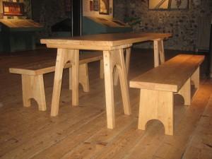 Oak Trestle Table reproduction furniture