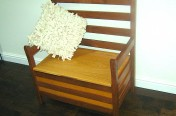 Oak and Walnut Story Chair Seat