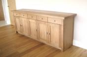 Lounge Solid Oak Side Low Dresser Storage Cabinet