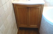 Bow Fronted Built In Vanity Stand