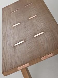 Coffe Table Metal Oak