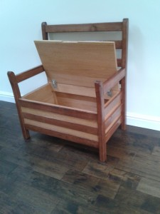 Oak Storage bench seat