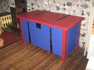 Chest Storage Locked Box Oak