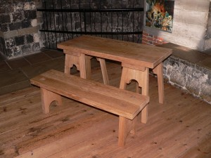 Oak Bench Table Reproduction Furniture