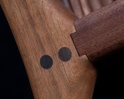 Pegged Maloof chair joint Walnut