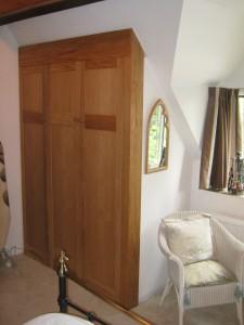 Alcove Eaves Sloping Oak Wardrobe Storage