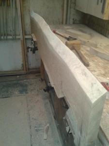 Oak Shelf Rustic Edge Detail
