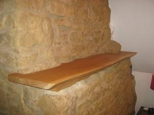 Oak Solid Mantel Shelf