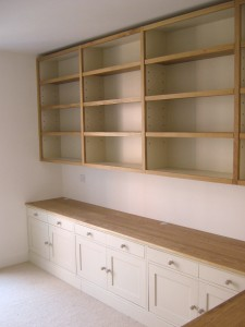 Bookcase Built In Study Oak Painted Storage Desk