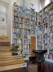 Built In Bookcase by Warren Techentin Architecture