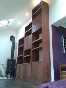 Walnut Display bookcase with storage