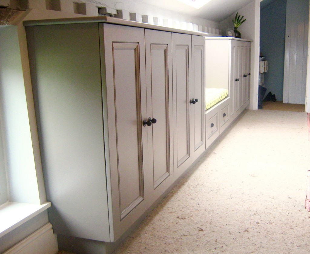 outstanding hallway cabinets furniture | Painted Hallway storage ideas cabinets hallway seat window ...