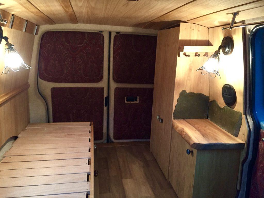 Camper Campervan Vw T5 Oak Interior Adventure Explore Conversion Iv James Archer Furniture