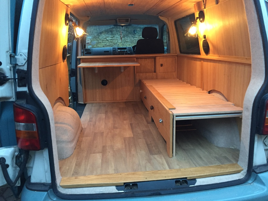 Camper Campervan Vw T5 Oak Interior Adventure Explore Conversion Xii James Archer Furniture