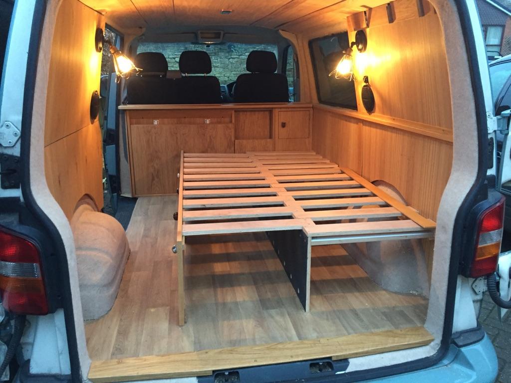 Camper Campervan Vw T5 Oak Interior Adventure Explore Conversion Xiii James Archer Furniture