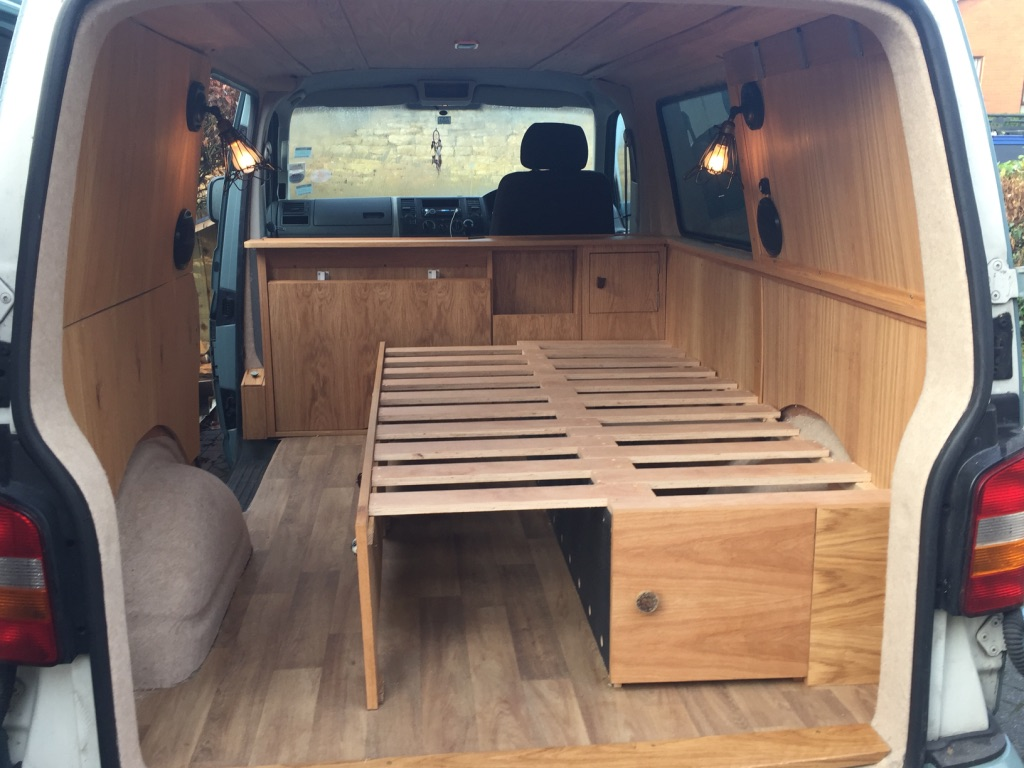 A Bespoke Pull Out Sofa Seat Creates Double Bed With Under Storage Perfect Lounge Area To Watch The World Go By Regardless If Campervan Is Parked