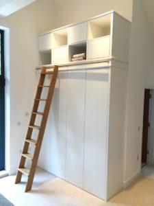 Bedroom furniture wardrobe with Oak Ladder