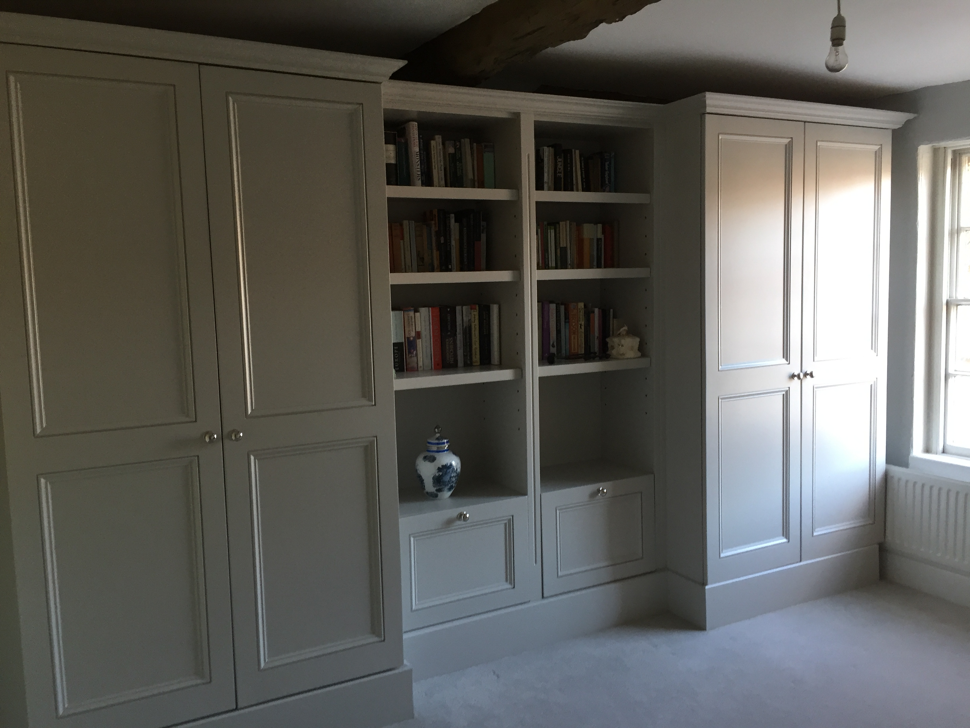 official photos 25026 3d345 Painted Wardrobes period design built in fitted Oak ...